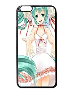 Anime Girl Dress White Durable Unique Design Hard Back Case Cover For iPhone 6 Plus - 5.5