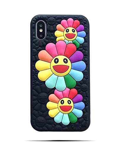 【CaserBay】 iPhone Phone Case 3D Cute Cartoon Kawaii Animal Series Soft Silicone Rubber Case Cover【Sun Flower, Compatible with 6.1