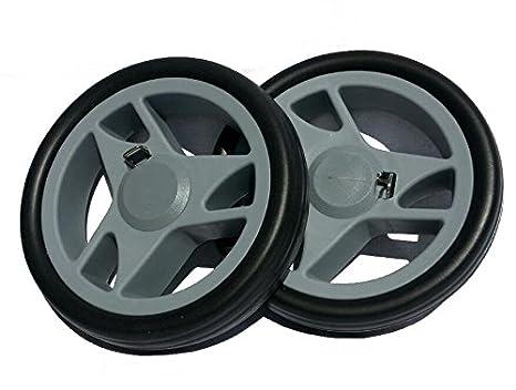 2 ruedas para roller/Carro De La Compra para eje 150 mm de diámetro diámetro 10 mm Gris: Amazon.es: Jardín