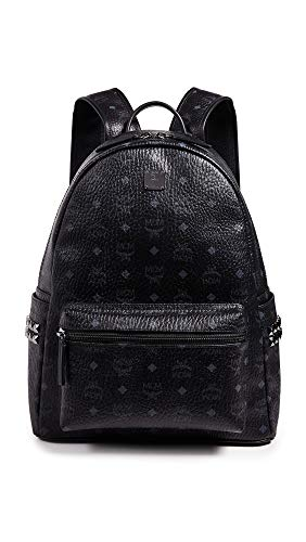 MCM Men's Stark Medium Side Stud Backpack, Black, One Size