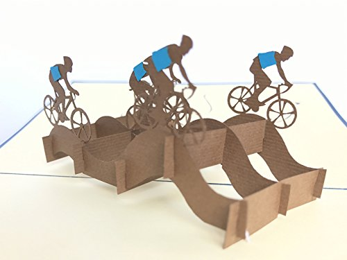 mejor deseo hecha a mano bodas Acci/ón de Gracias amistad deporte buena suerte para cumplea/ños aniversario Navidad bicicleta Tarjeta de felicitaci/ón 3D para equipo de ciclismo