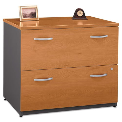 Bush – Series C Two-Drawer Lateral File (Assembled), Natural Cherry/Graphite Gray WC72454ASU (DMi EA