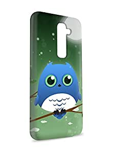 Case Fun Case Fun Azure Owl by DevilleART Snap-on Hard Back Case Cover for LG G2