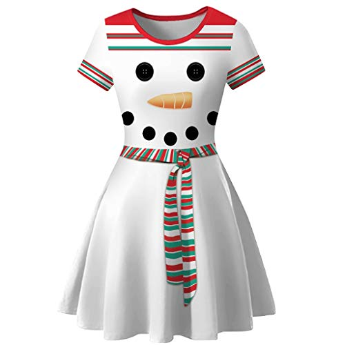 WillsaLadies Christmas Dress Canonicals Robe Women Snowman Christmas Red 1950s Notes Print Vintage Costume Swing Party Dress