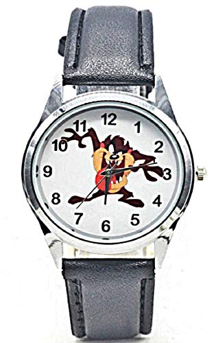 (New Horizons Production Looney Tunes Taz Black Leather Band Wrist Watch)