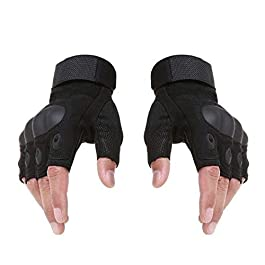 Bandhan Tactical Fingerless Cycling Gloves Non-slip Half Finger Hands Protector Army Military Bicycle Motocross Combat…
