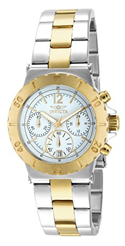 Invicta Women's 14855 Specialty Chronograph 18k Gold Ion Plating and Stainless Steel Two-Tone Watch ()