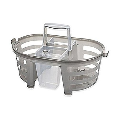 Shower Caddy 2-in-1-MultiColor (1, Charcoal)