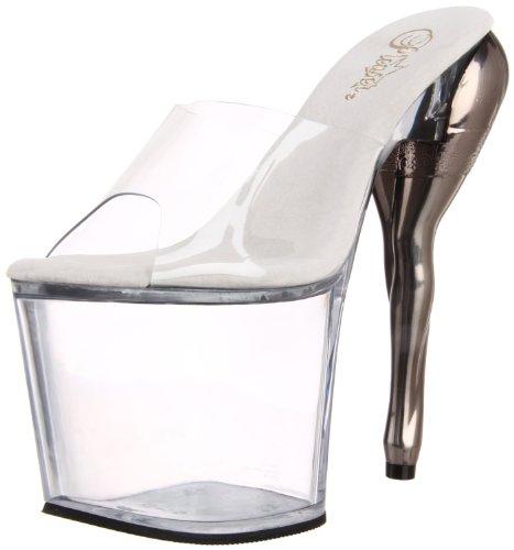 Pleaser - Zapatos de vestir de material sintético para mujer transparente transparente