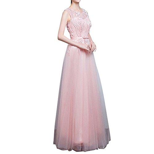 LaMarie Braut Rosa Romantisch Perlen Abendkleider Abiballkleider ...