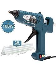 Heißklebepistole, Blusmart 100 Watt Klebepistole mit 10PCS transparente Klebestifte / Heißklebestifte für kleine DIY-Bastelarbeiten, & Dichtung und schnelle Reparaturen