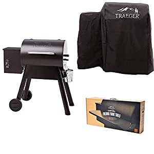 Traeger TFB29PLB Grills Bronson 20 Wood Pellet Grill and Smoker - Grill, Smoke, Bake, Roast, Braise, and BBQ (Black) from legendary Traeger