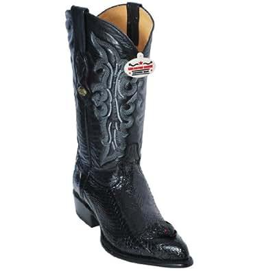 New Men's J-Toe Genuine Cobra With Head Leather Los Altos Western/Cowboy Boots