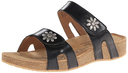 Josef Seibel Women's Tonga 04 Slide Sandal, black, 38 EU/7-7.5 M US by Josef Seibel