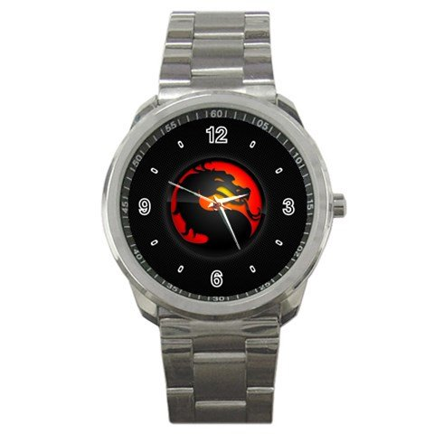 Mortal Kombat Black Logo Sport Metal Watch Special Edition (Women Of Mortal Kombat)