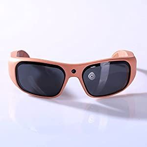 GoVision Apollo 1080p HD Camera Glasses Water Resistant Video Recording Sport Sunglasses - Rose Gold