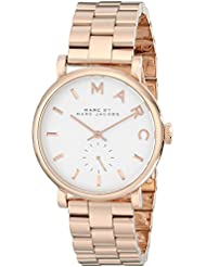 Marc by Marc Jacobs Womens MBM3244 Baker Rose-Tone Stainless Steel Watch with Link Bracelet