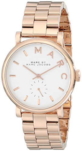 Marc by Marc Jacobs Women's MBM3244 Baker Rose-Tone Stainless Steel Watch with Link Bracelet