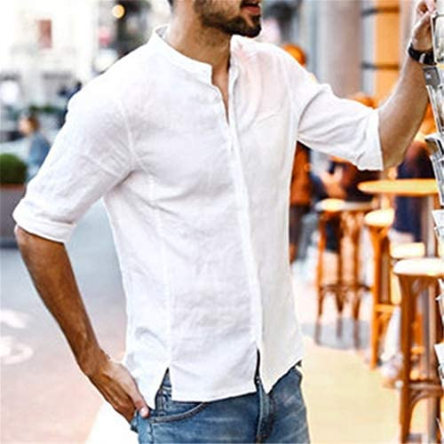 Fannyfuny camiseta Hombre Verano Camisas Casual Cuello en V ...