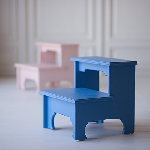 Ivy Cottage Bed Step Stool Blue by The Beautiful Bed Company