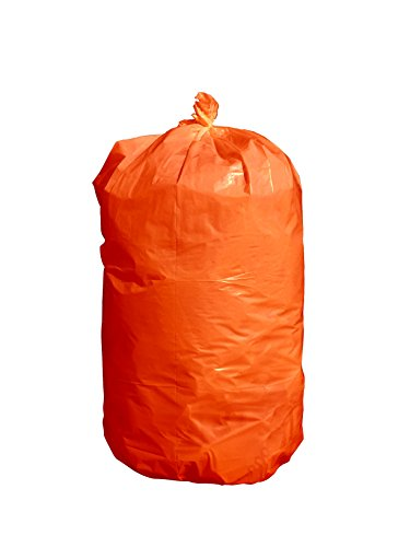 USA-Made Durable Facilities Maintenance Quality Trash Bags (44-55 Gallon, ORANGE)]()