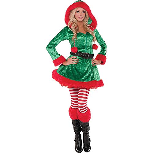 Amscan Sassy Elf Costume for Women, Christmas Costume, Large, with Included Accessories ()