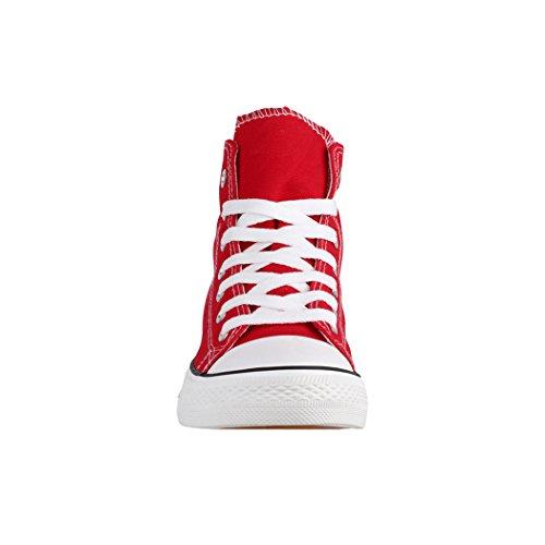 Kult High Herren Basic Rot Damen Top und Schuhe Chunkyrayan Unisex Textil Sportschuhe Bequeme für Elara Sneaker HUz5wqU1