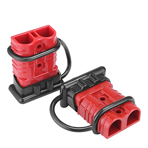 MUYI 175A 2-4 AWG Battery Cable Quick Connect/Disconnect Towing Winch Quick Connect Systems Wire Harness Plug Connector for Recovery Winch Auto Car Trailer Driver Electrical Devices, 12-36V DC(2Pcs)