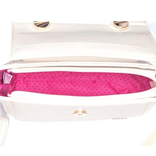 Barbie BBFB523 bolso para mujeres bolso bandolera de simple estilo elegante (blanco)