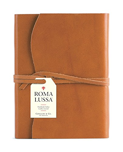 Cavallini & Co. Roma Lussa Leather Journal - Journal Leather Brown Italian