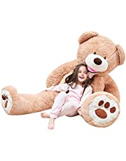 IKASA 160cm Giant Teddy Bear Stuffed Animal Toy Huggable Cute Sunny Cuddles Baby Doll