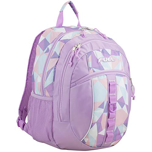 Fuel Sport Active Multi-Functional Backpack, Lovely Lilac/Crystal Clear Geo Print