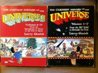 """The Cartoon History of the Universe (SET of two volumes): Volumes 1-7, """"From the big Bang to Alexander the Great"""" & Volumes 8-13, """"From the springtime of China to the fall of Rome"""""""