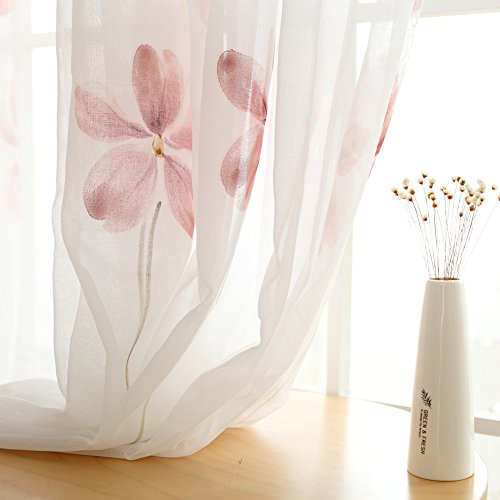 Melodieux Floral Window Treatment Curtains