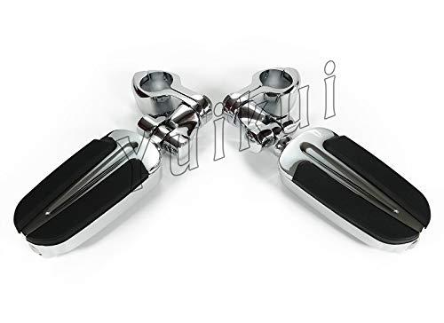 YUIKUI RACING オートバイ汎用 1-1/4インチ/32mmエンジンガードのパイプ径に対応 ハイウェイフットペグ タンデムペグ ステップ YAMAHA 1900 STRATOLINER/DELUXE From 2006等適用   B07PRSBNZH