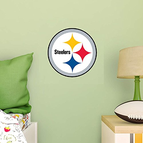 Pittsburgh Steelers FATHEAD Team Logo Official NFL Vinyl Wall Graphic 11