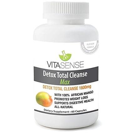 VitaSense Detox Limpieza Total 1600 mg MAX - 60 Capsulas – Pérdida de Peso and Purificación