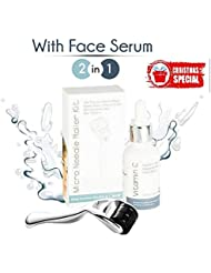 0.25mm Derma Roller Microneedle Kit with Face Serum...