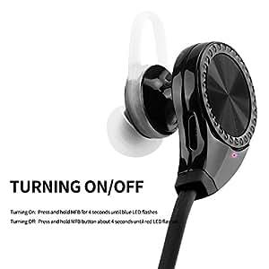 Shuoge® Mini ligero estéreo inalámbricos Deportes / marcha y Gimnasio / ejercicio Bluetooth Auriculares(negro)