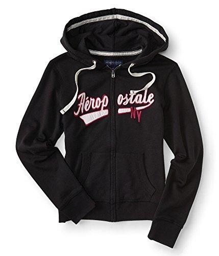 aeropostale-womens-aropostale-full-zip-hoodie-m-black