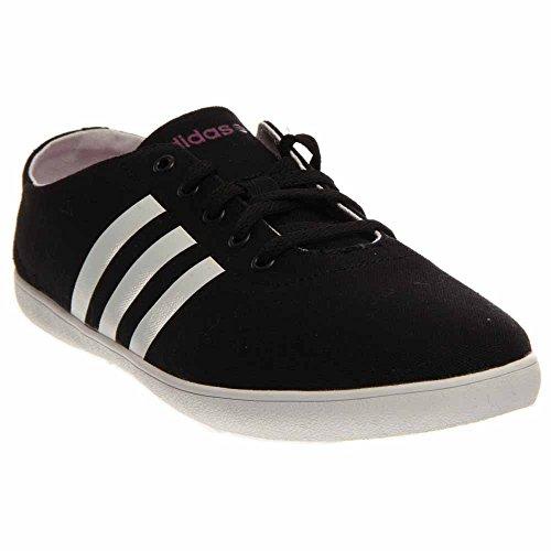 promo code 499dc e38b6 Galleon - Adidas NEO Women s QT Vulcanized VS W Slip-On Sneaker, Core  Black Running White Flash Pink, 8 M US