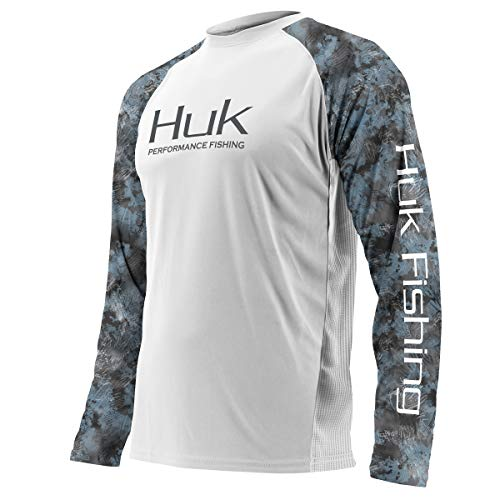 Huk Men's Double Header Vented Long Sleeve Shirt