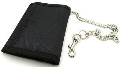 Portefeuille avec chaine securite Monnaie Acier Biker Moto Mousqueton PSxcNGUTai