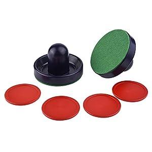 eBoot Air Hockey Set 2 Pcs 96mm Airhockey Pusher mit 4 Pcs 63mm Airhockey Puck