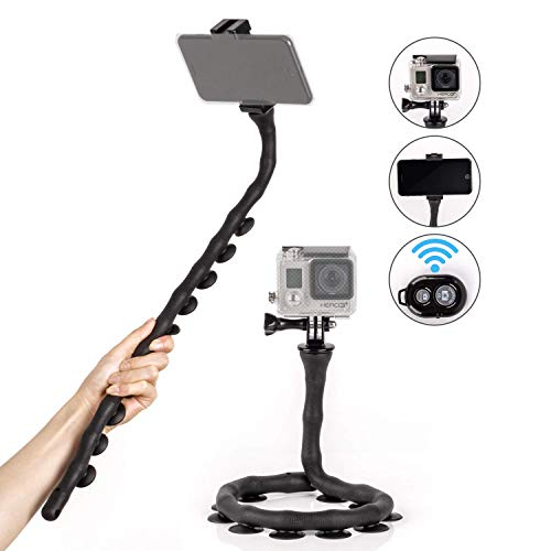 Kizen Flexible Selfie Stick. Monopod Suction Cup