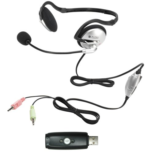 Altec Lansing AHS302USB USB and Standard Stereo Behind-the-Neck Folding Headset