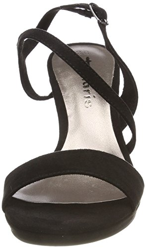 Sandals Tamaris black Sling Black 001 Back Women''s 28318 4wxqpIP