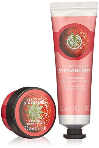 The Body Shop Strawberry Soft Hands Warm Kisses Duo Gift Set