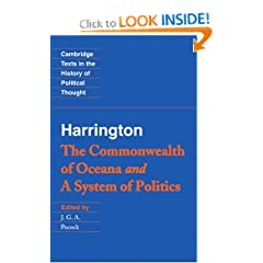Harrington: 'The Commonwealth of Oceana' and 'A System of Politics' (Cambridge Texts in the History of Political Thought)