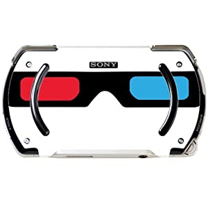 3D Glasses Red and Blue Lens PSP Go Vinyl Decal Sticker Skin by Moonlight Printing